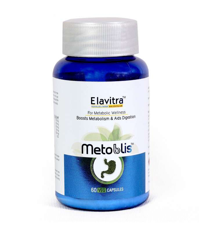 Elavitra METOBLIS – Ayurvedic Herbal Formula For Healthy Metabolism Support (60 Vegetarian Capsules)